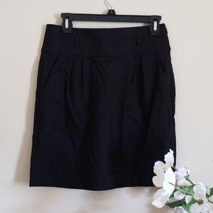 LOFT Black Shift Skirt